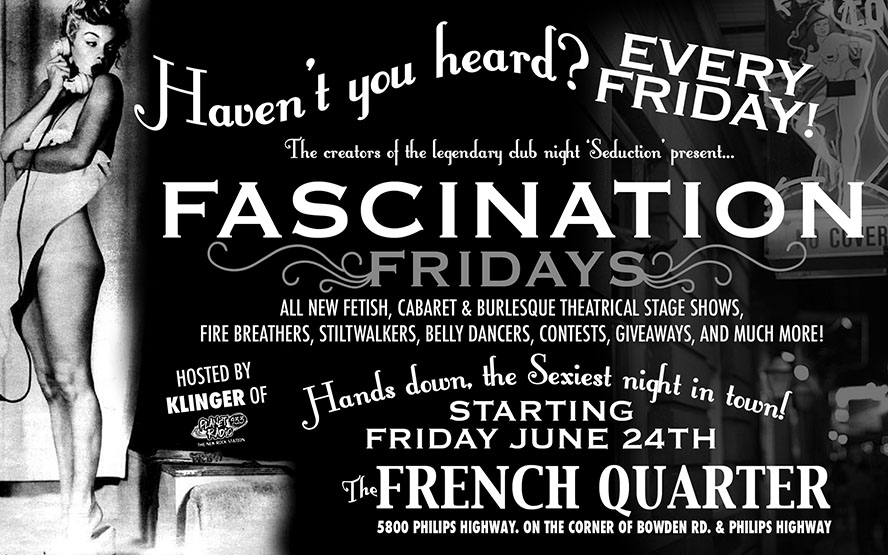 FLYER - FASCINATION_B&W